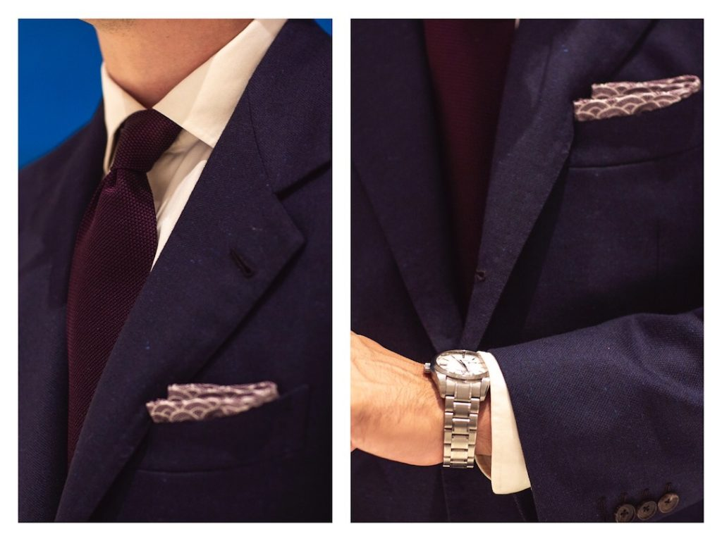 How to wear navy suit in evening