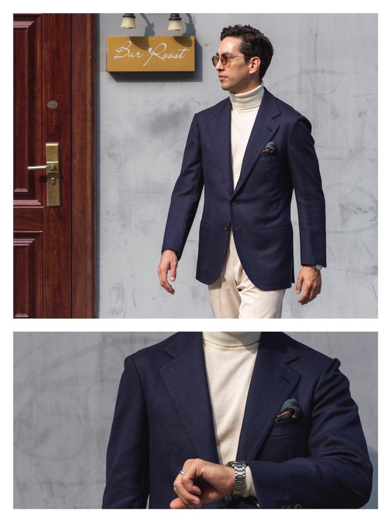 How to wear navy suit in weekend